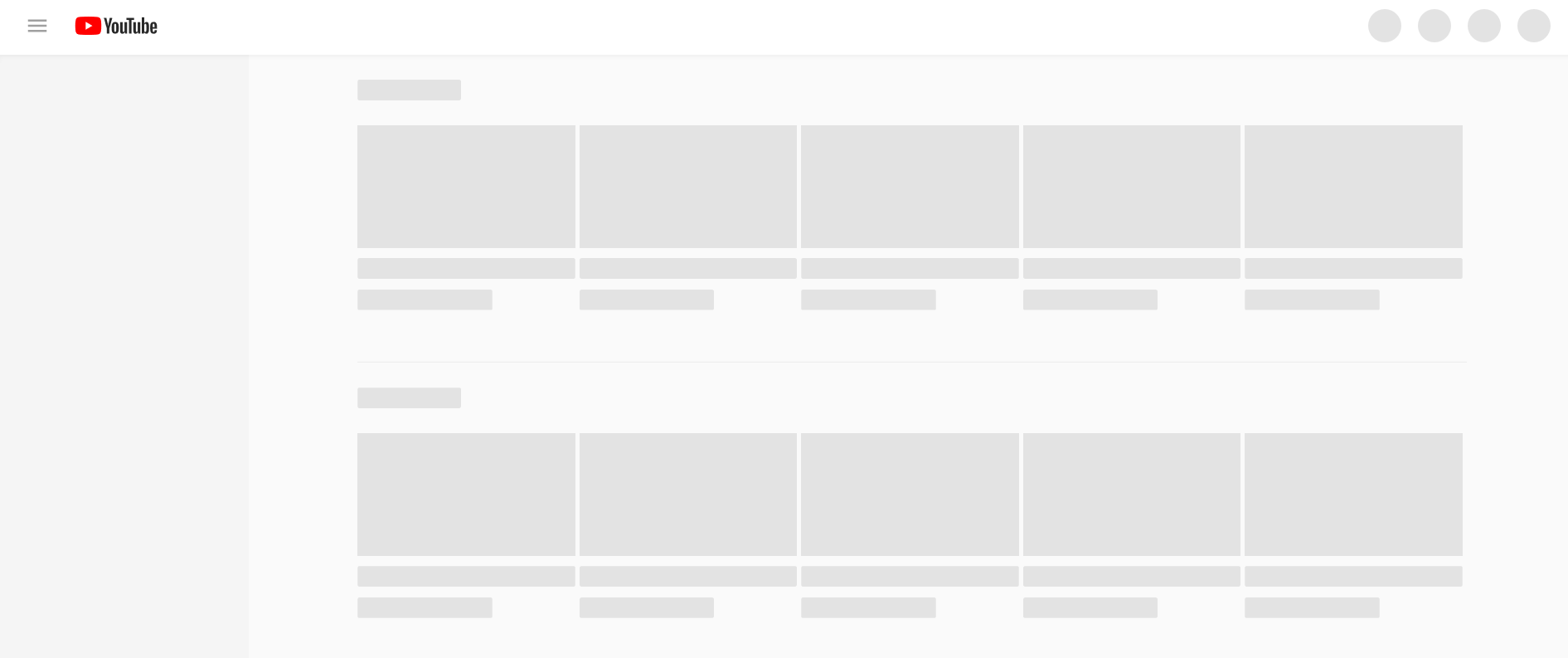 Youtube loading page example